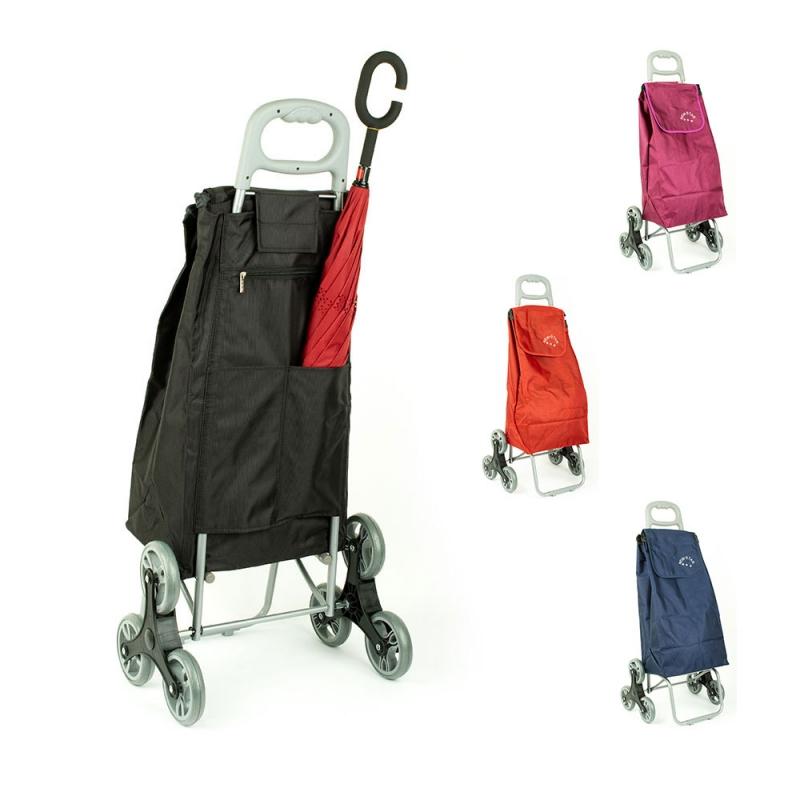 Wózek torba na zakupy na kółkach sześciokołowa składana Airtex 102