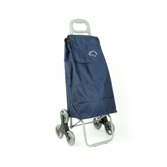 Wózek torba na zakupy na kółkach sześciokołowa składana Airtex 102 granatowa