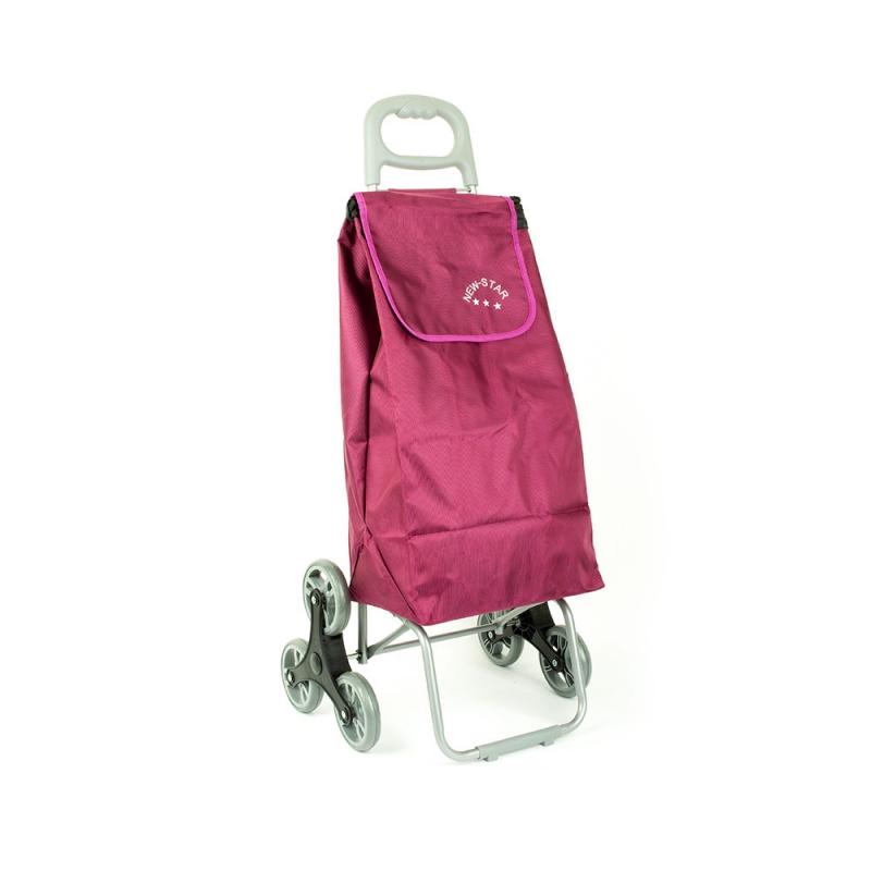 Wózek torba na zakupy na kółkach sześciokołowa składana Airtex 102 fioletowa
