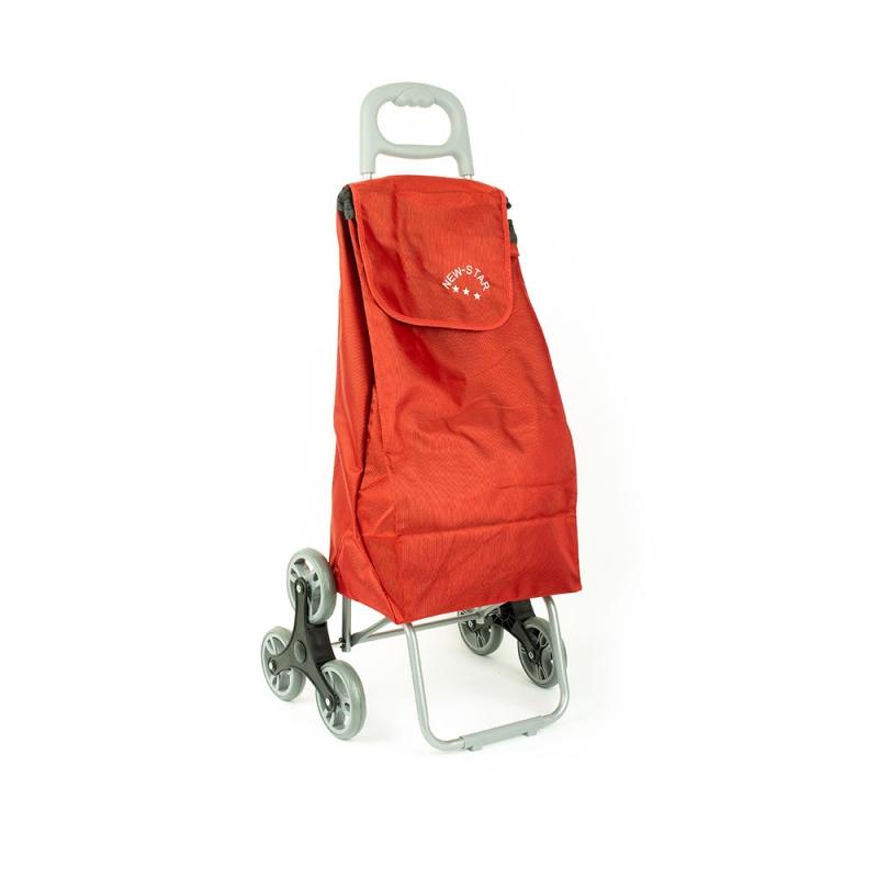 Wózek torba na zakupy na kółkach sześciokołowa składana Airtex 102 czerwona