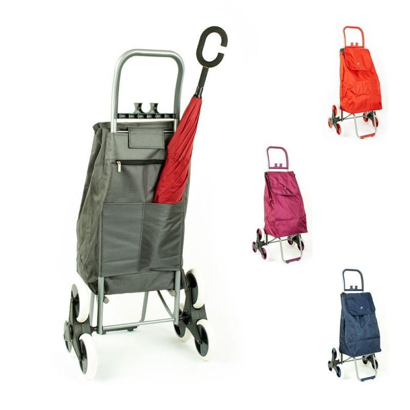 Wózek torba na zakupy na kółkach sześciokołowa składana Airtex 037