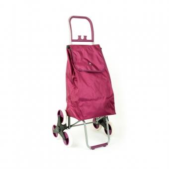 Wózek torba na zakupy na kółkach sześciokołowa składana Airtex 037 fioletowa