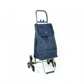 Wózek torba na zakupy na kółkach sześciokołowa składana Airtex 037 granatowa