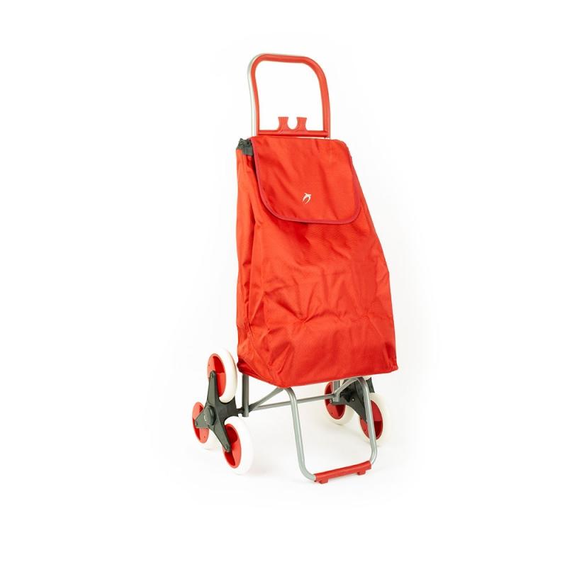 Wózek torba na zakupy na kółkach sześciokołowa składana Airtex 037 czerwona