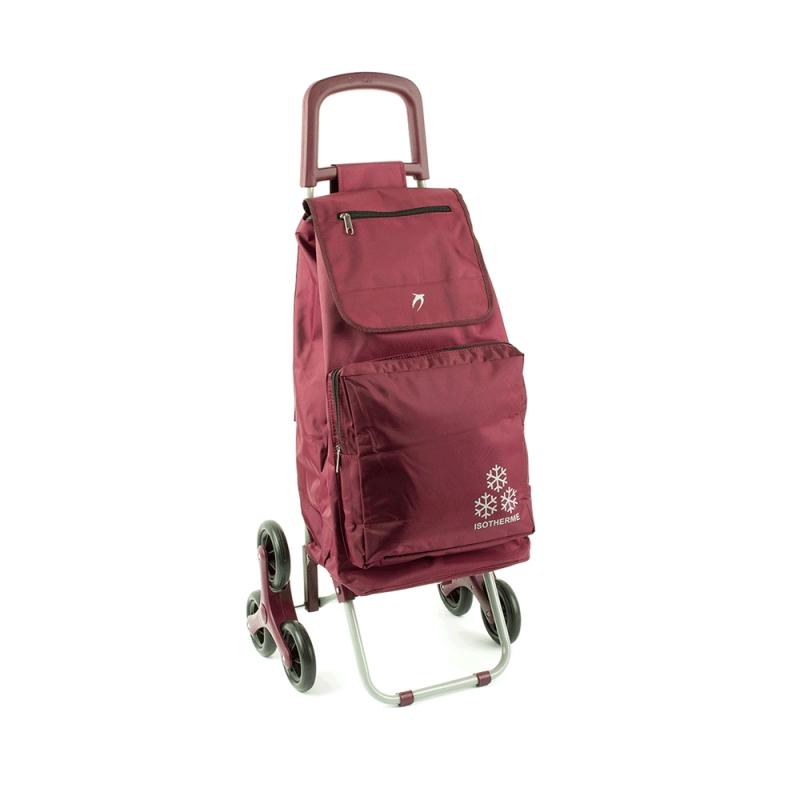 Torba wózek na zakupy na kółkach sześciokołowy - Airtex 031 bordowy