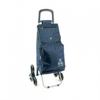 Torba wózek na zakupy na kółkach sześciokołowy - Airtex 031 granatowy