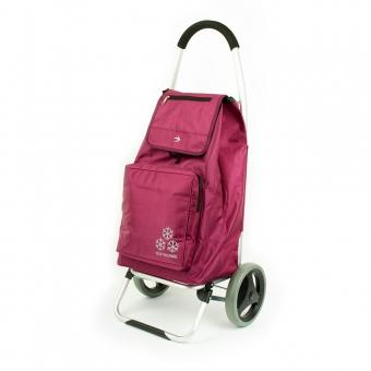 Torba wózek na zakupy na dużych kółkach z termoizolacją Airtex 026 fioletowy