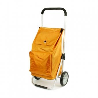 Torba na zakupy na dużych kółkach składana 54L - Madisson 52029 pomarańczowa