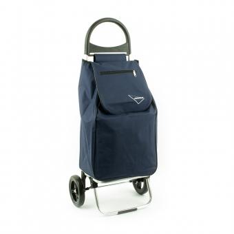 Wózek na zakupy torba na kółkach lekki, składany Aurora 125 granatowy