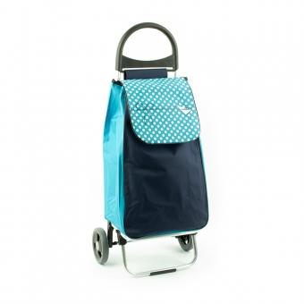 Wózek na zakupy torba na kółkach lekki, składany Aurora 125 niebieski