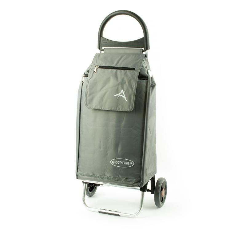 Wózek na zakupy torba na kółkach z kieszenią termiczną Aurora 126 szary