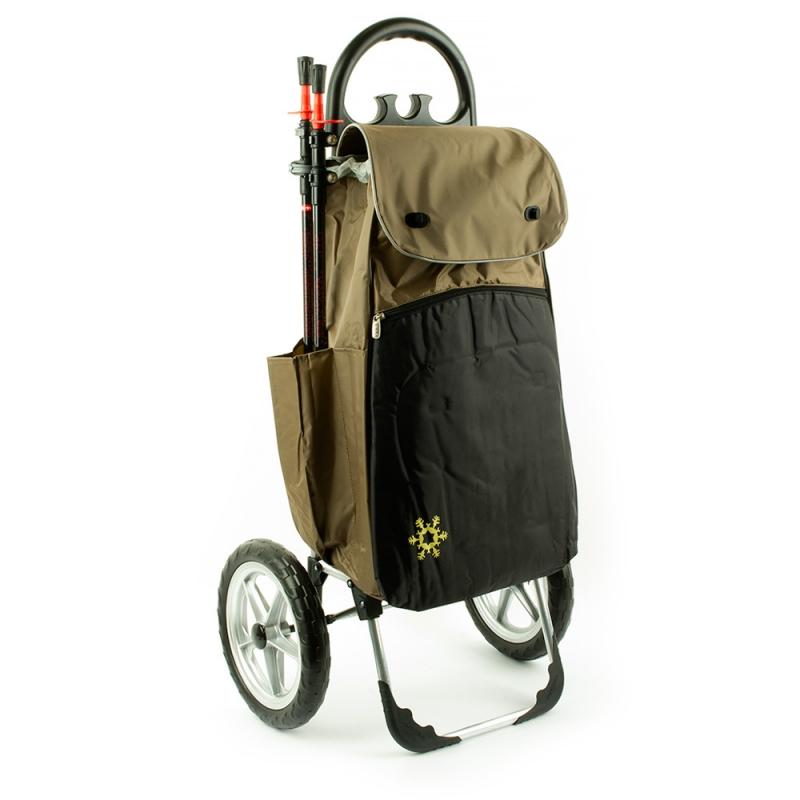 Wózek na zakupy torba na bardzo dużych kółkach AURORA Vienna 121 beż