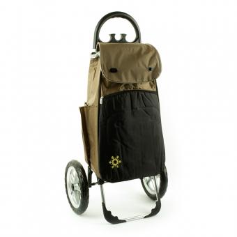 Wózek na zakupy torba na bardzo dużych kółkach AURORA Vienna 121 brązowy