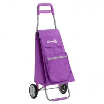 Wózek na zakupy torba na kółkach lekki składany GIMI Argo fioletowy