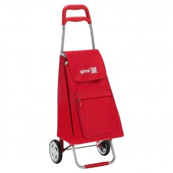 Wózek na zakupy torba na kółkach lekki składany GIMI Argo czerwony