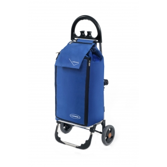 Wózek na zakupy torba na kółkach termiczna składana AURORA AU138 niebieski