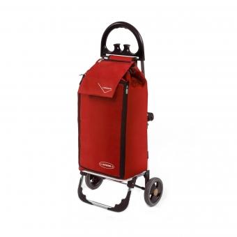 Wózek na zakupy torba na kółkach termiczna składana AURORA AU138 czerwony