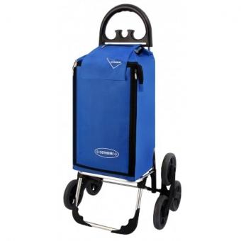 Wózek na zakupy trójkołowy torba na kółkach na schody AURORA 109 niebieski