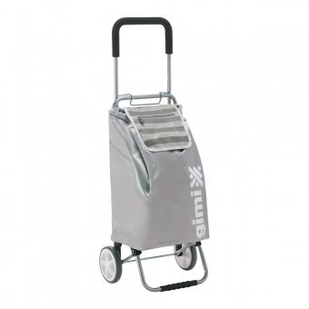 Wózek na zakupy torba na kółkach składana GIMI Flexi szary jasny, popielaty