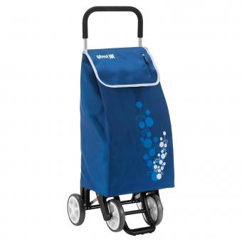 Torba wózek na zakupy na czterech kółkach do pchania GIMI Twin niebieski
