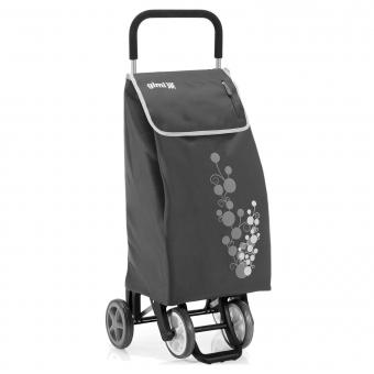 Torba wózek na zakupy na czterech kółkach do pchania GIMI Twin szary
