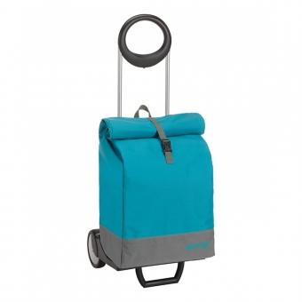 Wózek na zakupy bagażowy torba na kółkach 2w1 GIMI Marine niebieski turkusowy