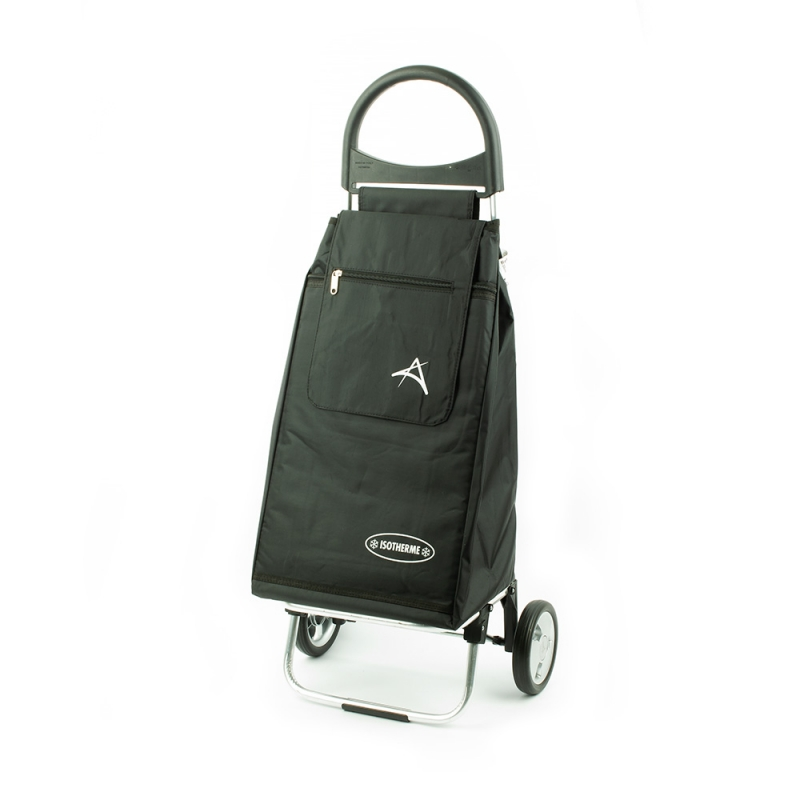 Wózek na zakupy torba na kółkach z kieszenią termiczną Aurora 126 czarny