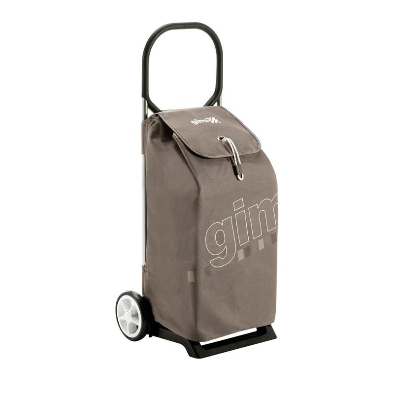 Wózek na zakupy torba na kółkach lekka pojemna 50l GIMI Italo beżowy
