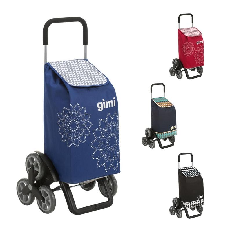 Torba wózek na zakupy na 3 kółkach na schody składana Gimi Tris