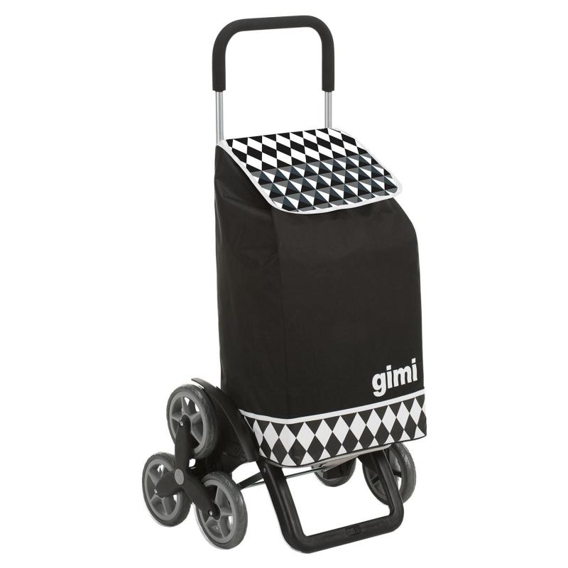 Torba wózek na zakupy na 3 kółkach na schody składana Gimi Tris czarny