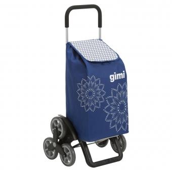 Torba wózek na zakupy na 3 kółkach na schody składana Gimi Tris niebieski