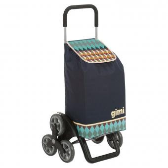 Torba wózek na zakupy na 3 kółkach na schody składana Gimi Tris granatowy