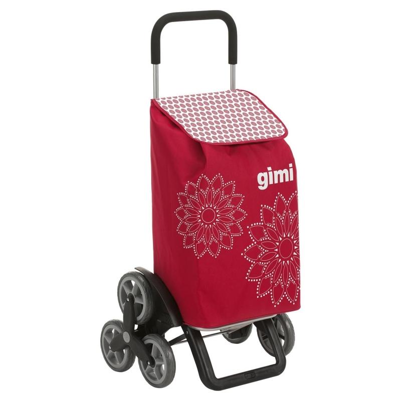 Torba wózek na zakupy na 3 kółkach na schody składana Gimi Tris czerwony