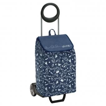 Torba wózek na zakupy na kółkach składana GIMI Easy granatowy