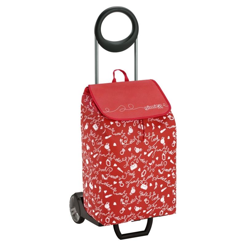 Torba wózek na zakupy na kółkach składana GIMI Easy czerwony