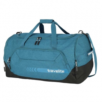 Duża torba podróżna do ręki XL z kieszenią na buty 120l Travelite  niebieska