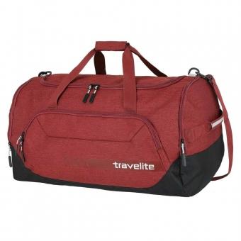 Torba sportowa na długim pasku z kieszenią na obuwie S Travelite czerwona