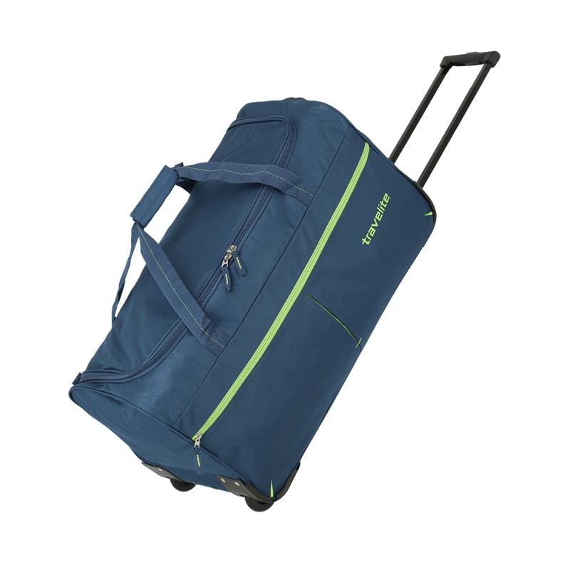Torba podróżna na kółkach materiałowa 80l Travelite Basic niebieska