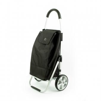 Wózek torba na zakupy na dużych kółkach składany lekki Madisson 32029 czarny