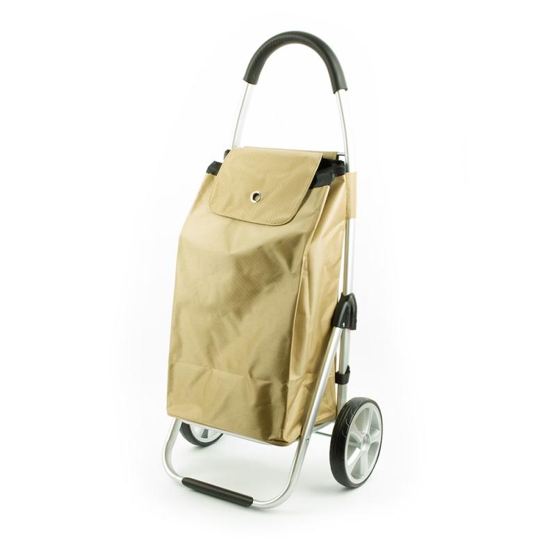 Wózek torba na zakupy na dużych kółkach składany lekki Madisson 32029 beżowy