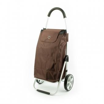 Wózek torba na zakupy na dużych kółkach składany lekki Madisson 32029 brązowy