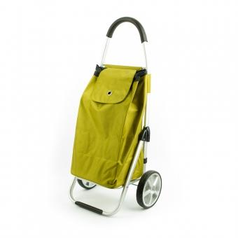 Wózek torba na zakupy na dużych kółkach składany lekki Madisson 32029 zielony