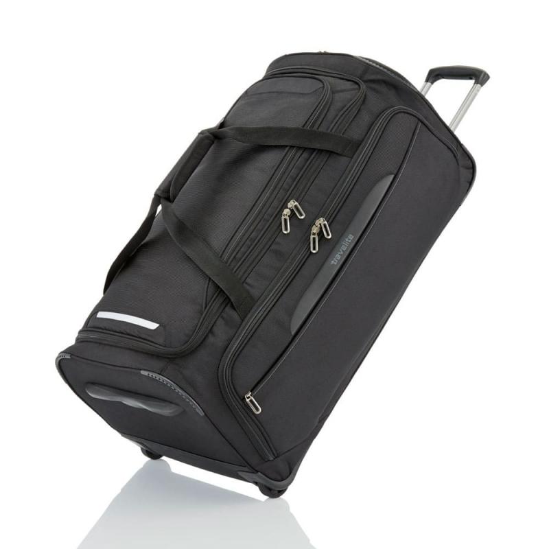Duża solidna torba podróżna na kółkach 120l usztywniana składana Travelite czarna