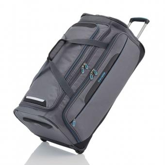 Duża solidna solidna torba podróżna na kółkach 120l usztywniana składana Travelite szara