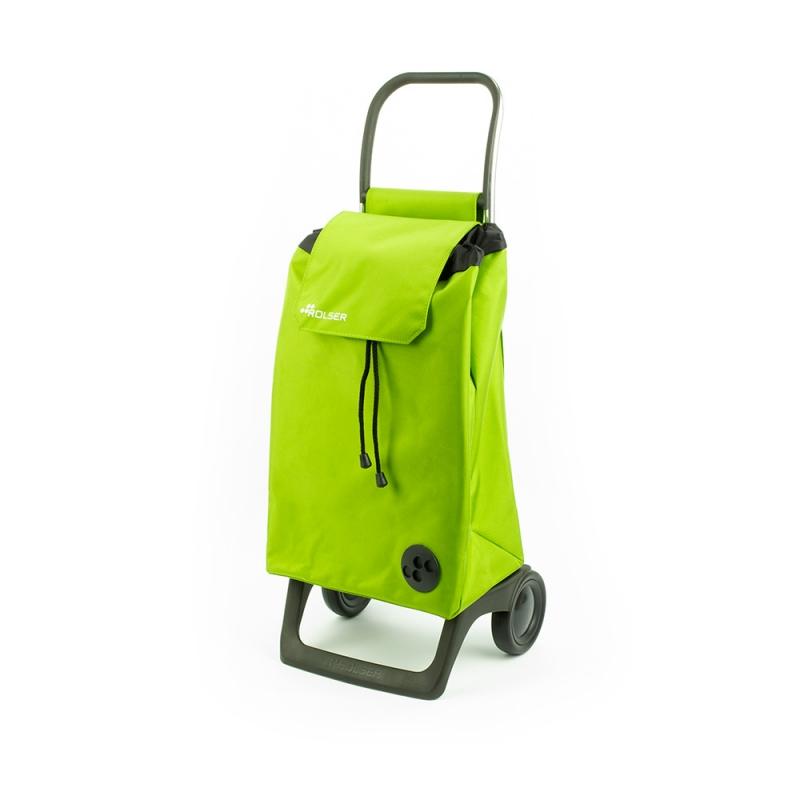 Torba wózek na zakupy na kółkach lekki składany Rolser Baby zielony jazny