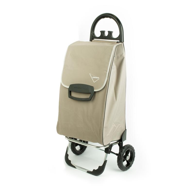 Wózek na zakupy torba na kółkach duży usztywniony 60l AURORA 131 beżowy