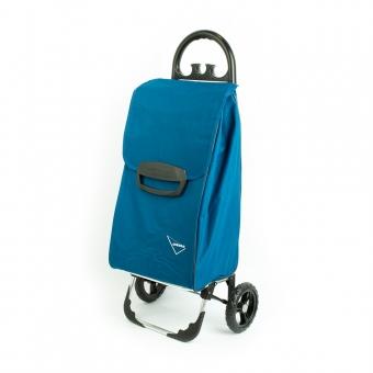 Wózek na zakupy torba na kółkach duży usztywniony 60l AURORA 131 niebieski morski