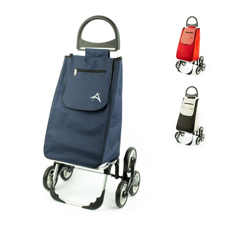 Wózek torba na zakupy na kółkach trójkołowy na schody Aurora 107