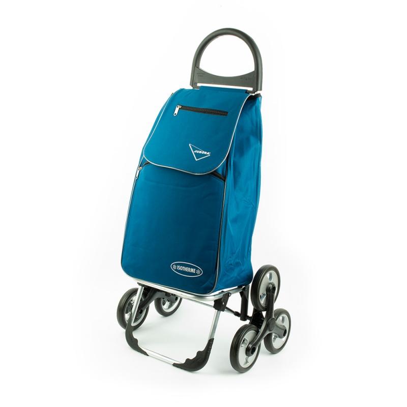 Torba wózek na zakupy na kółkach trójkołowy na schody Aurora 153 niebieski