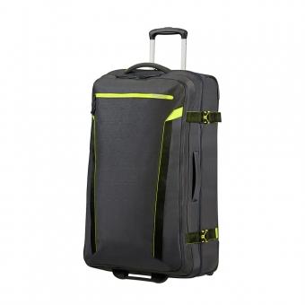 Duża torba podróżna na kółkach materiałowa 100l TSA American Tourister szara